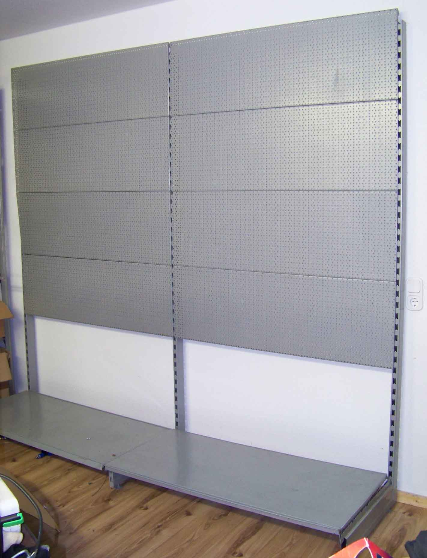 lochwandregal lochwand regal wandregal 220 x 252 cm ladenregal metalregal ebay. Black Bedroom Furniture Sets. Home Design Ideas