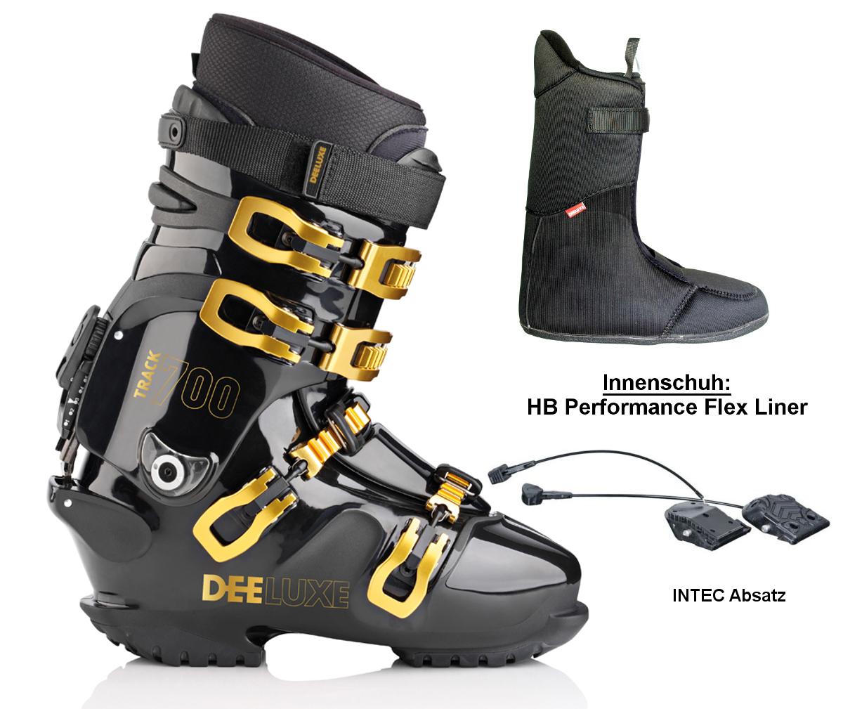 Intec Absatz DEELUXE TRACK 325 black SNOWBOARDSCHUH HARDBOOT HP-Flex Innenschuh